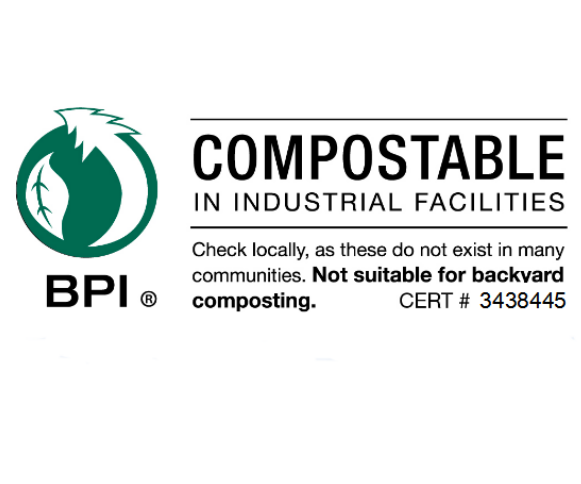 Meets ASTM D6400 standard for compostability